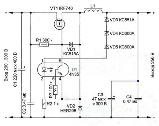 стабилизаторы тока схемы импульсные