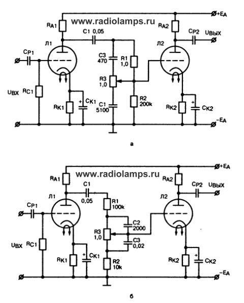 схемы регулятора тембра ВЧ