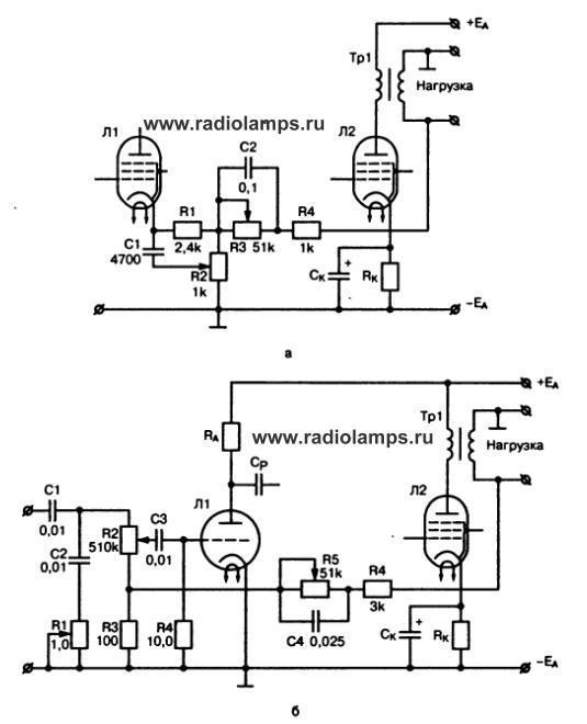 схемы регуляторов тембров