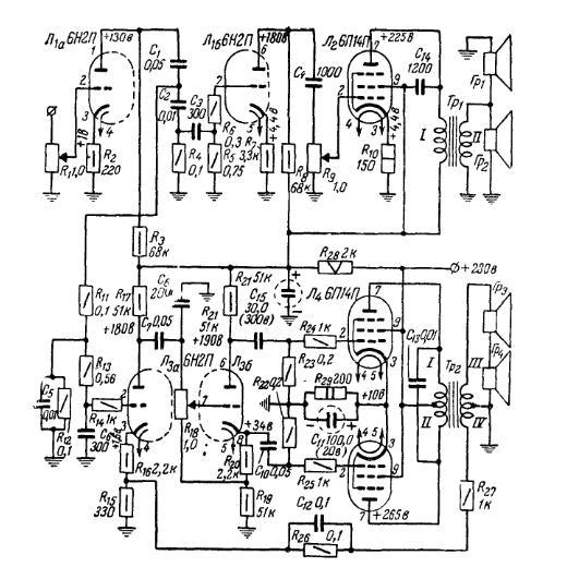 схема намотки трансформатора на полуавтомат. схемы усилителей.